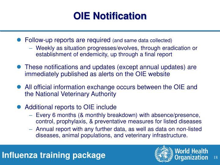OIE Notification