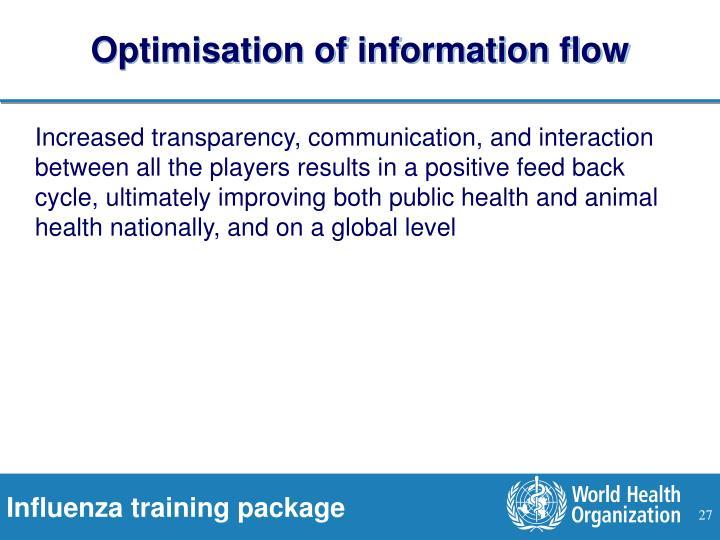 Optimisation of information flow