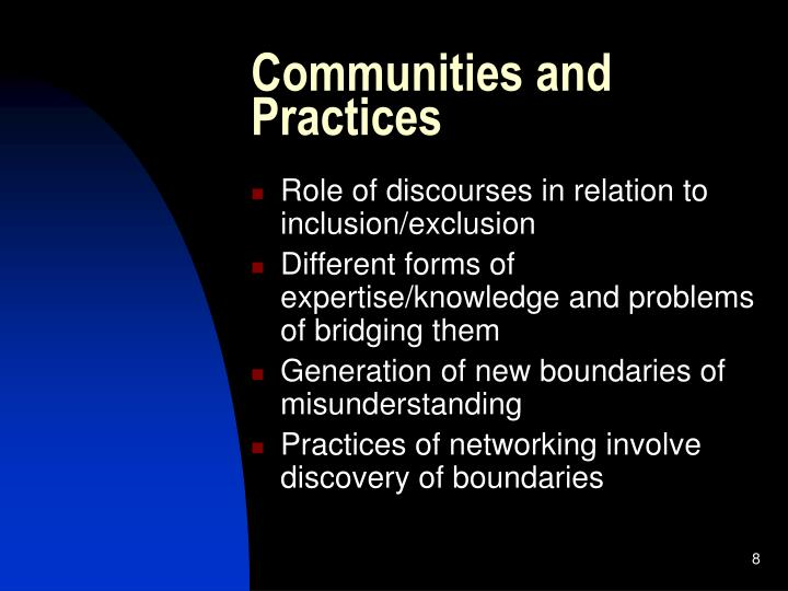 Communities and Practices