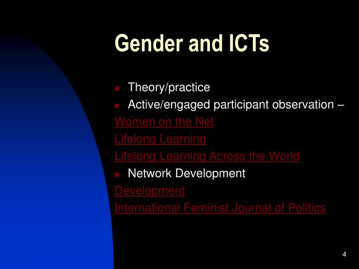 Gender and ICTs