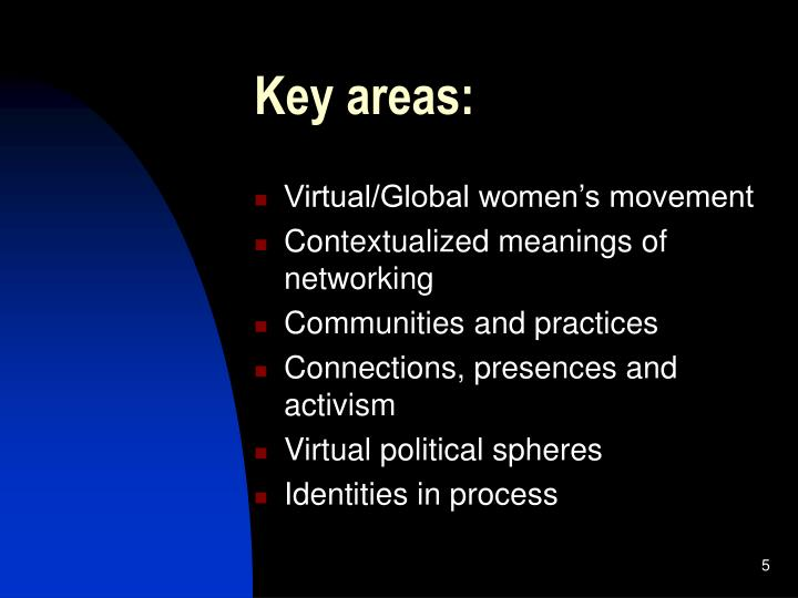 Key areas: