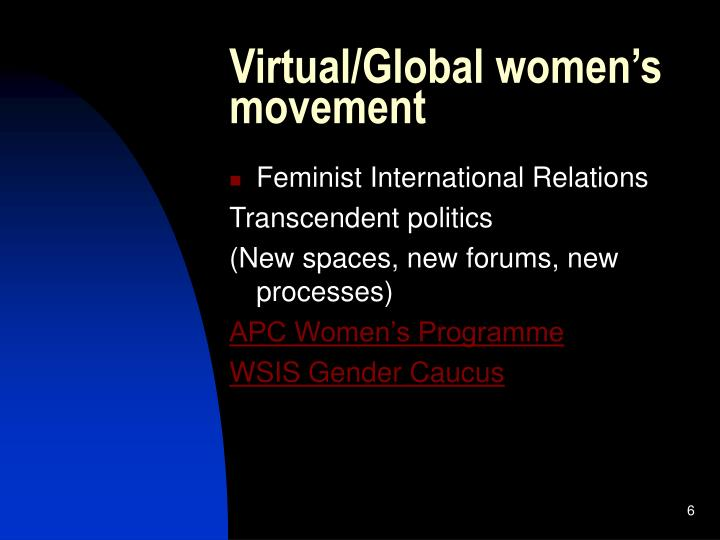 Virtual/Global women's movement