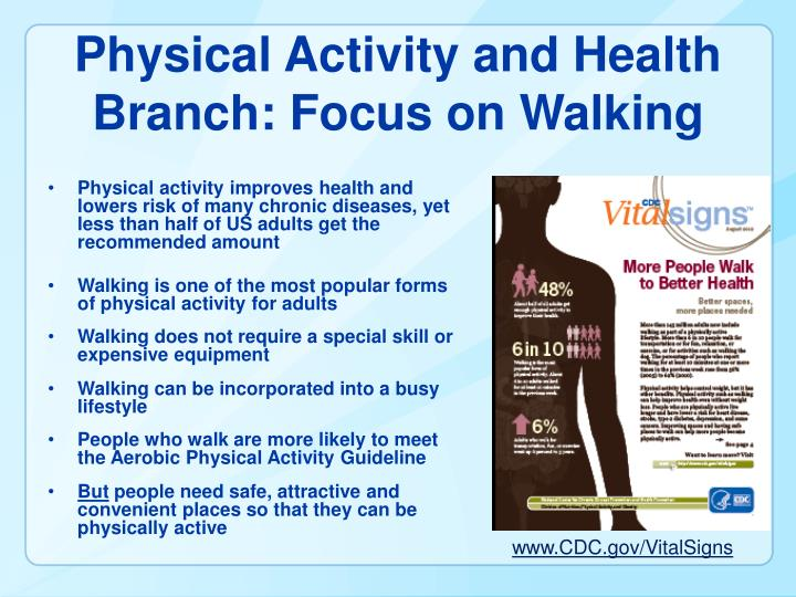 Physical Activity and Health Branch: Focus on Walking