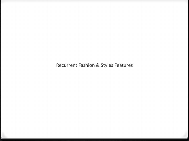 Recurrent Fashion & Styles
