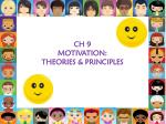 ch 9 motivation theories principles