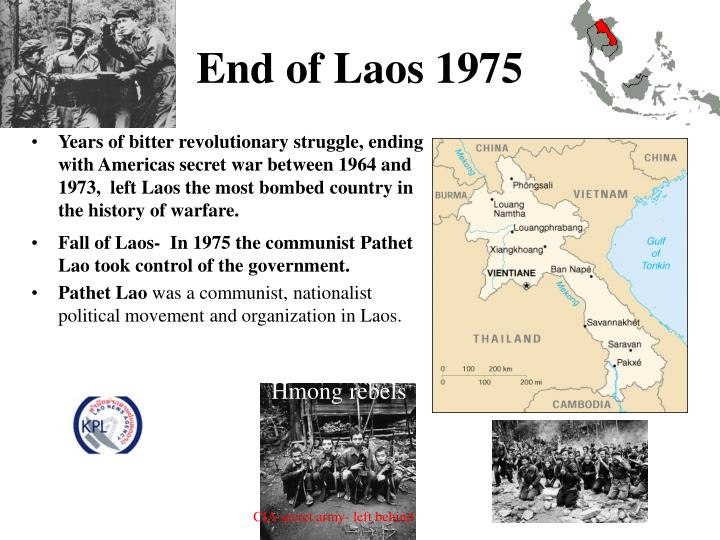 End of Laos 1975