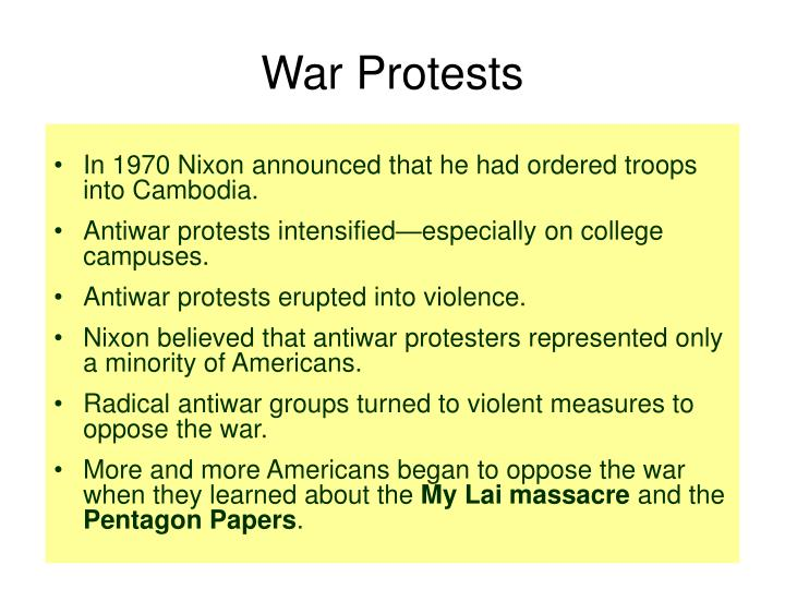 War Protests