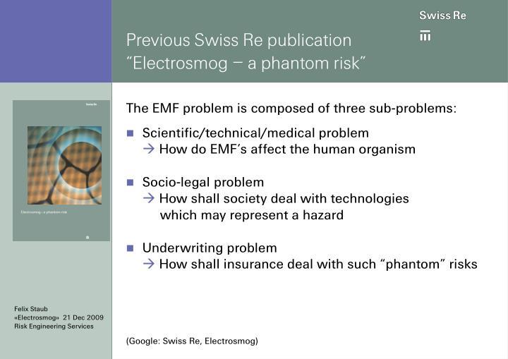 Previous Swiss Re publication