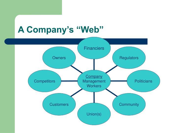 """A Company's """"Web"""""""
