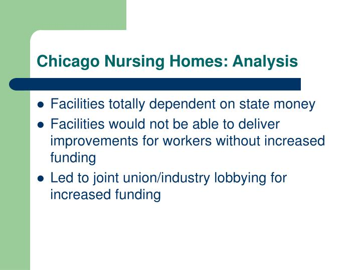 Chicago Nursing Homes: Analysis