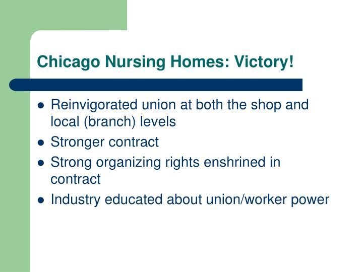 Chicago Nursing Homes: Victory!
