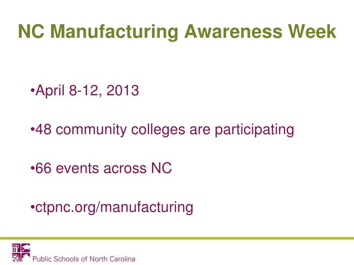 Nc manufacturing awareness week