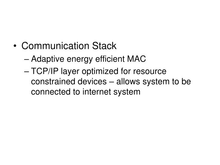 Communication Stack