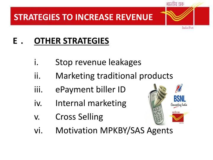 STRATEGIES TO INCREASE REVENUE