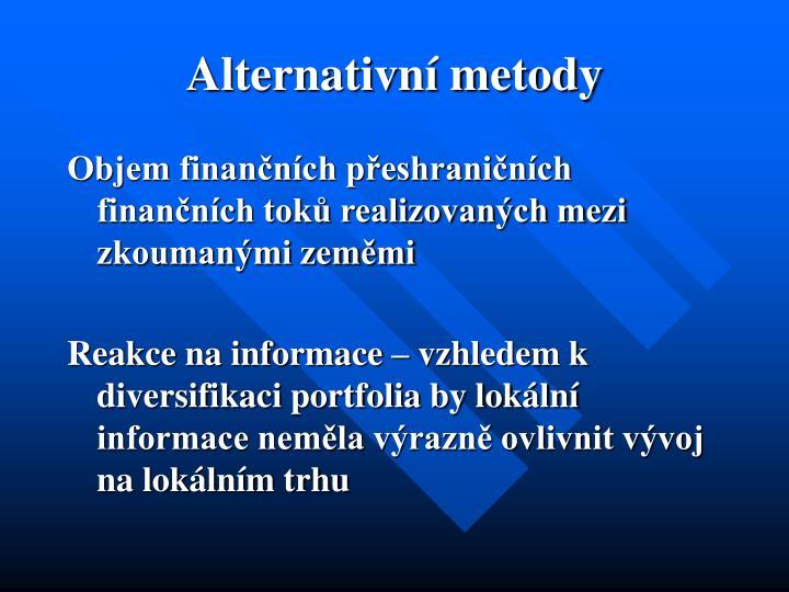 Alternativní metody