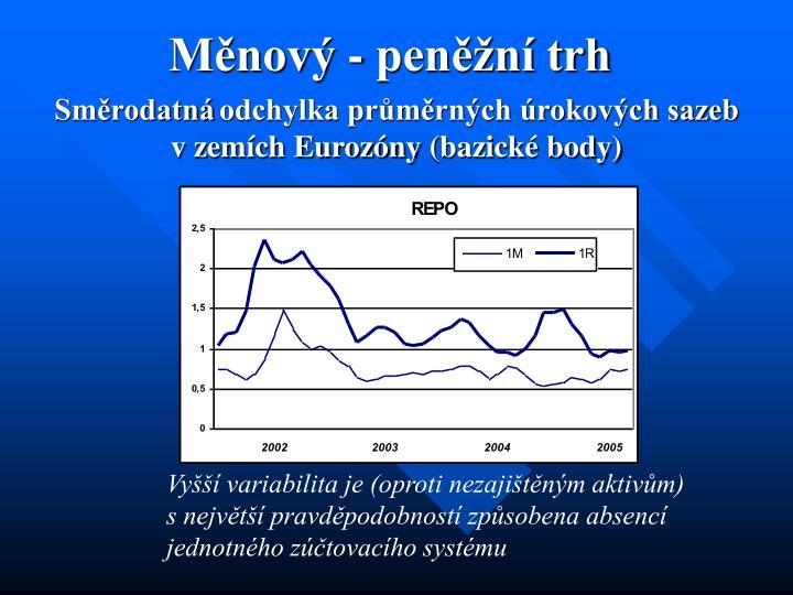 Měnový - peněžní trh