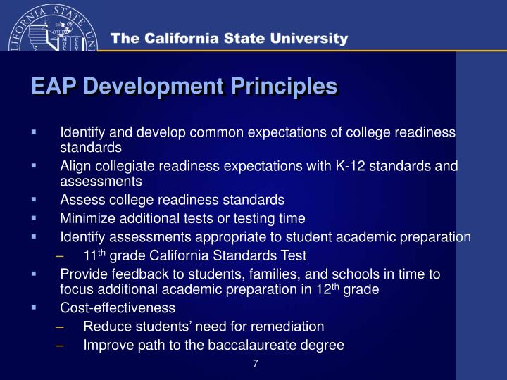 EAP Development Principles