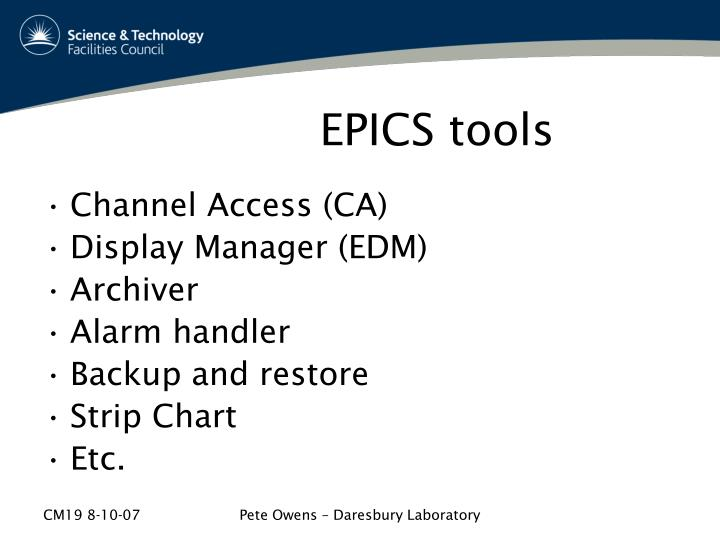 EPICS tools