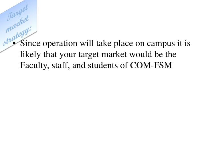 Target market strategy