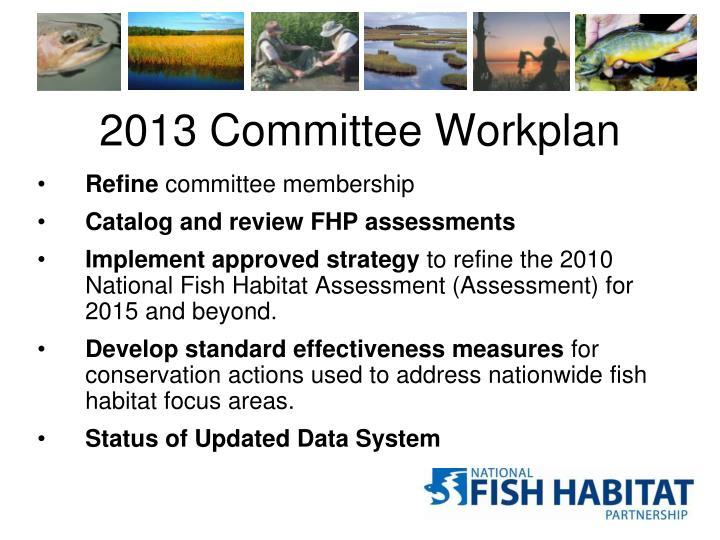2013 Committee Workplan