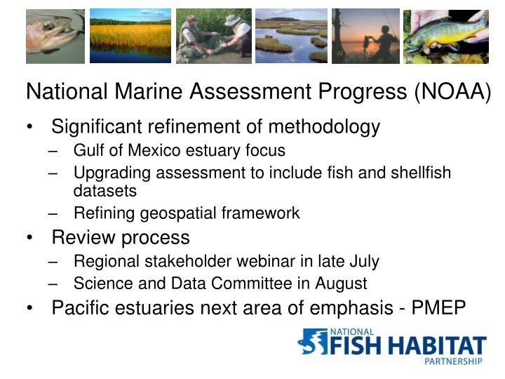 National Marine Assessment Progress (NOAA)