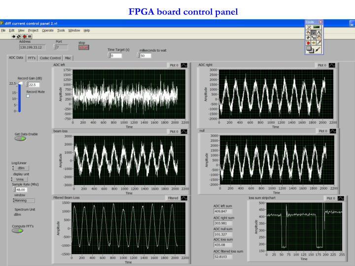 FPGA board control panel