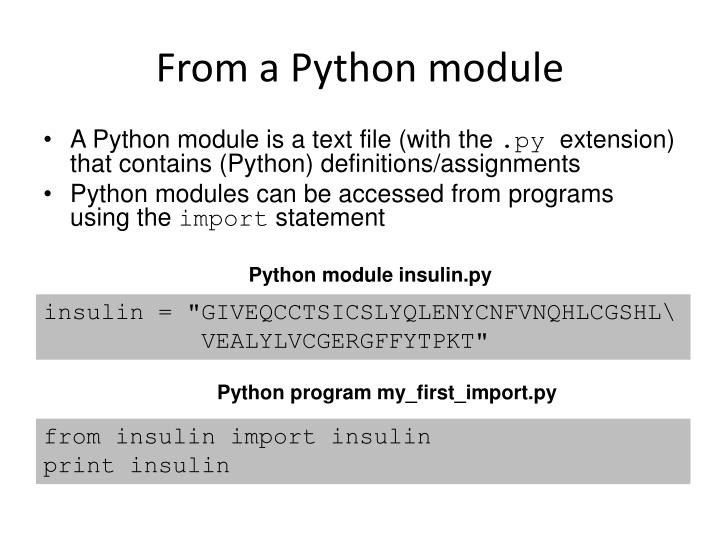 From a Python module