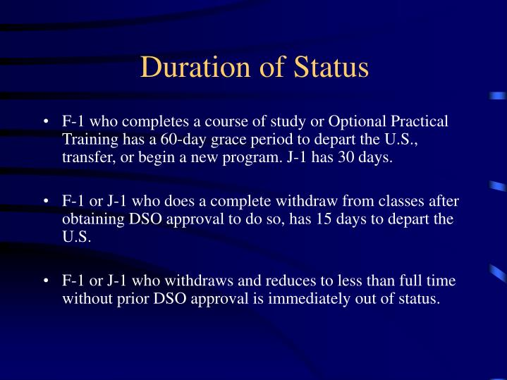 Duration of Status