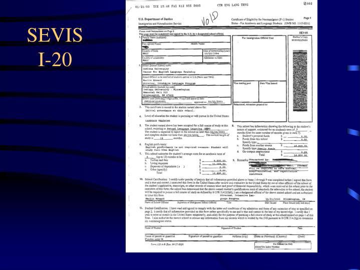 SEVIS I-20