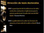 direcci n de tesis doctorales