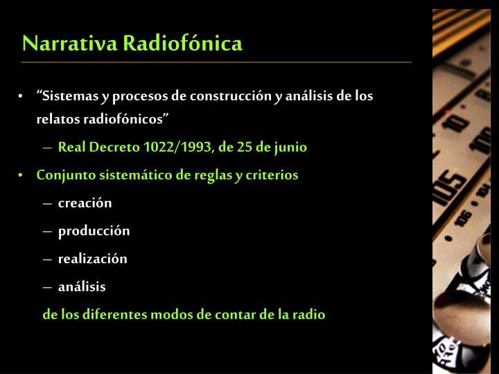 Narrativa Radiofónica