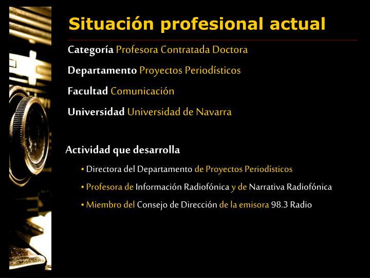 Situación profesional actual