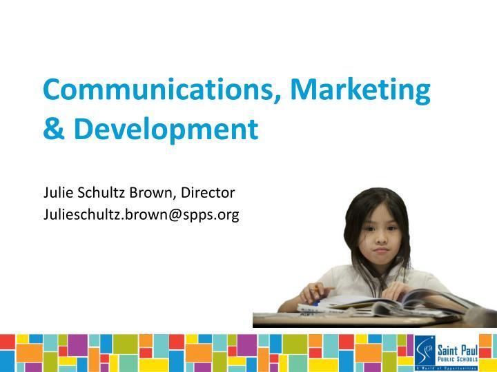 Communications, Marketing