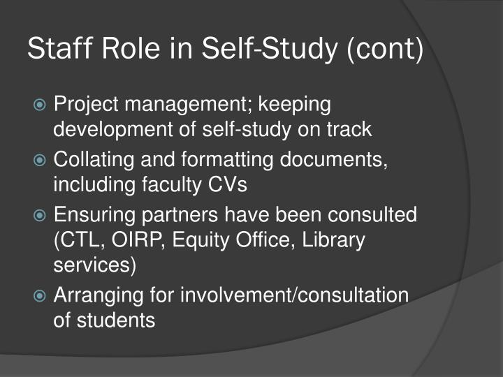 Staff Role in
