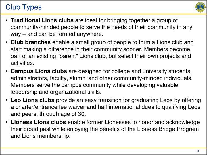 Club Types