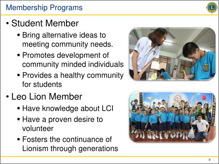 Membership Programs