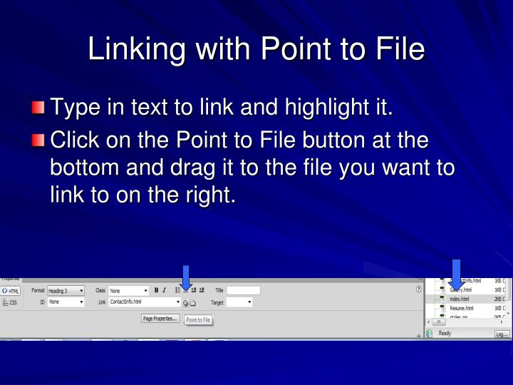 Linking with Point to File