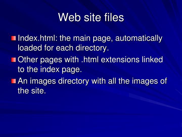 Web site files
