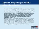 spheres of opening and smes internationalisation