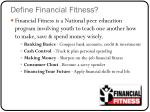 define financial fitness