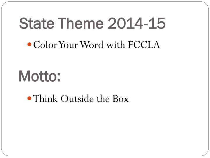 State Theme 2014-15