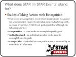 what does star in star events stand for