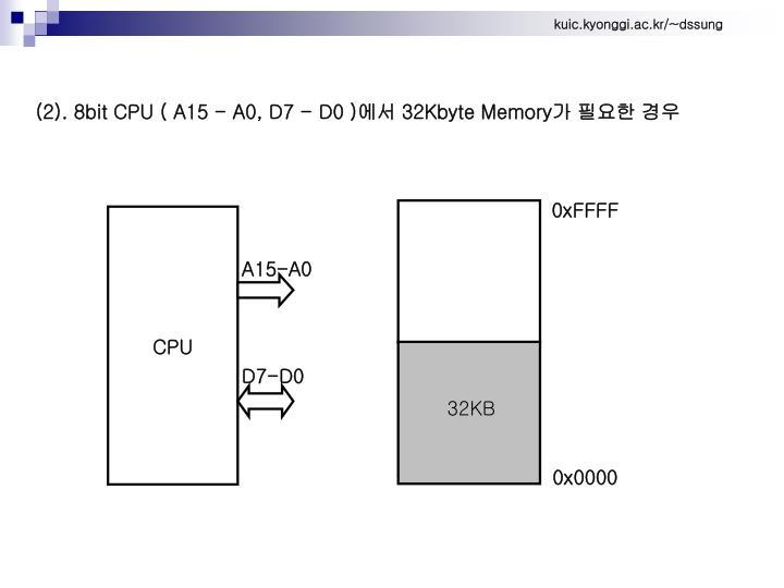 (2). 8bit CPU ( A15 - A0, D7 - D0 )