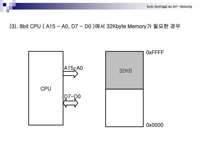 (3). 8bit CPU ( A15 - A0, D7 - D0 )