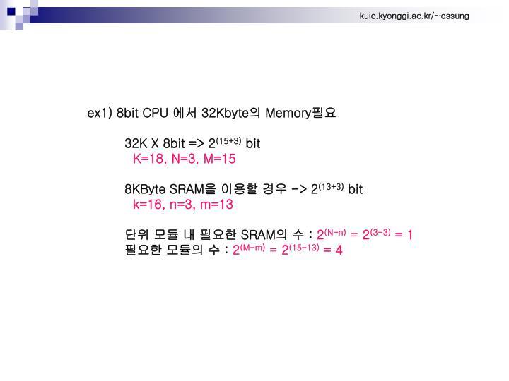 ex1) 8bit CPU