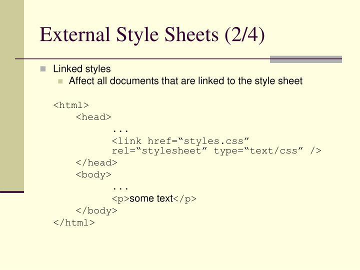 External Style Sheets (2/4)