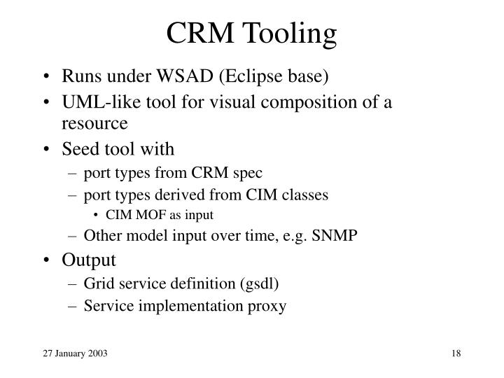 CRM Tooling