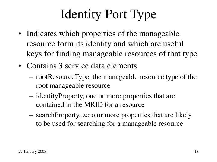 Identity Port Type