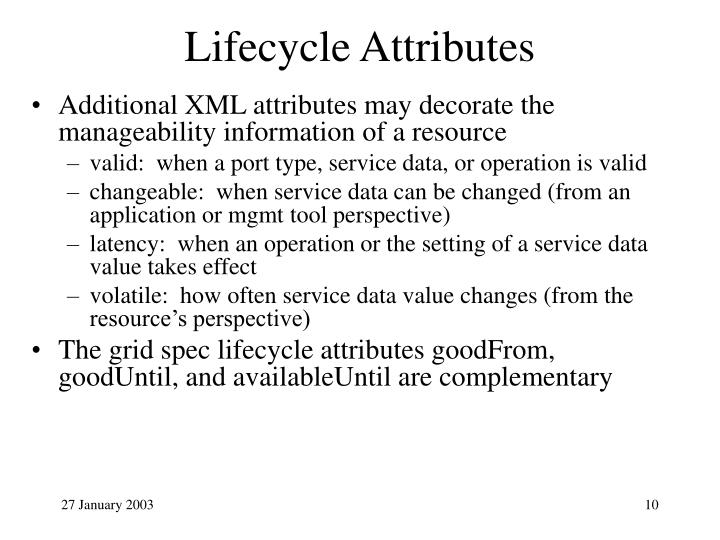 Lifecycle Attributes