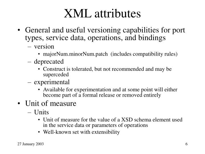 XML attributes
